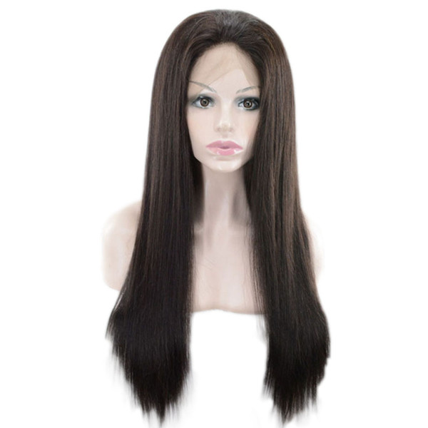 Brazilian Virgin Hair Glueless Lace Front Human Hair Wigs For Black Women Pre Plucked Brazilian Remy Straight Lace Front Wig