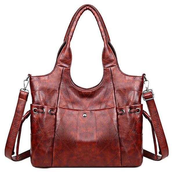 new style women shoulder bag sheepskin bag handbag elegant large capacity female messenger crossbody bags casual tote - from $22.09