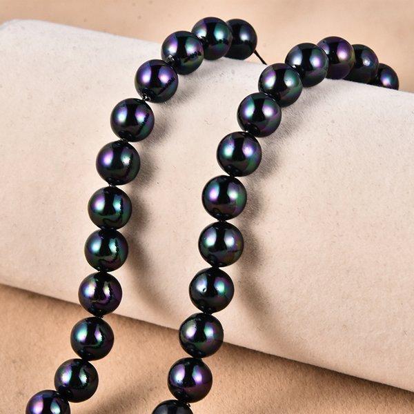 Agate Black-12mm (environ 33 pièces)
