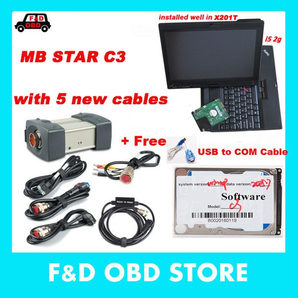 Pour MB Star Star C3 de Mercede Diagnostic Tool avec le logiciel de version 2015.07 HDD dans l'ordinateur portable s200 cd Multiplexer de X200T, l'appareil de diagnostic