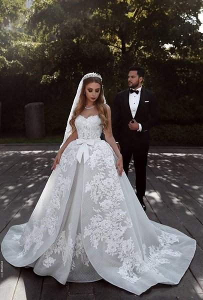 White Ball Gown Lace Princess Vintage Modest Vestidos De Fiesta African Nigerian lace Wedding Guest Dresses With Belt Bridal Gowns 2019 H122