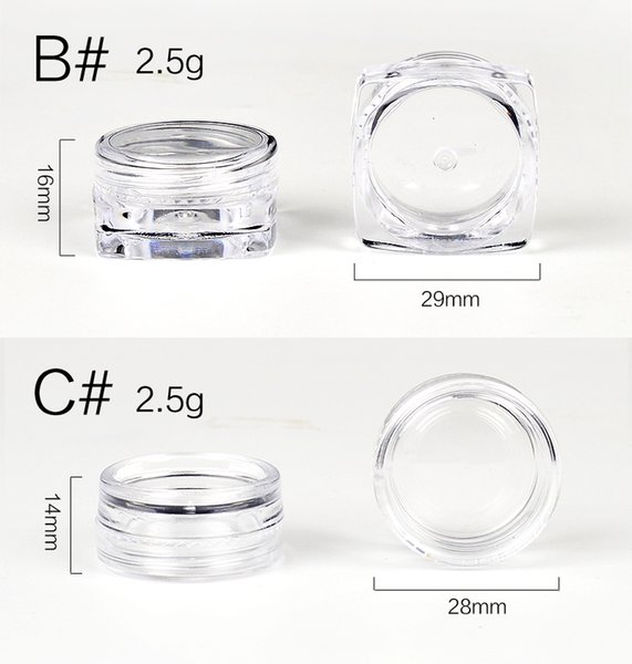 10Pcs Transparent Small Bottle 2g/2.5g Cosmetic Empty Jar Pot Eyeshadow Lip Face Cream Sample Container