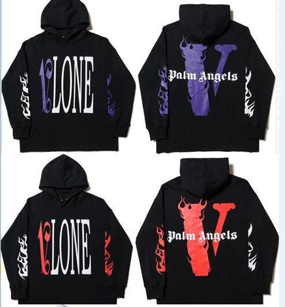 2019 Vlone Palm Angels sudadera con capucha sudadera hombres mujeres chaquetas Chándal Hip Hop Streetwear Harajuku invierno marca abrigo con capucha moda Pullover
