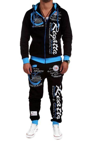 2 Teile Set Männer Trainingsanzug Outwear Hoodie Herbst Trainingsanzug Fitness Brief Gedruckt Sweatshirts Jacke Hosen Sets Jogger M-3XL