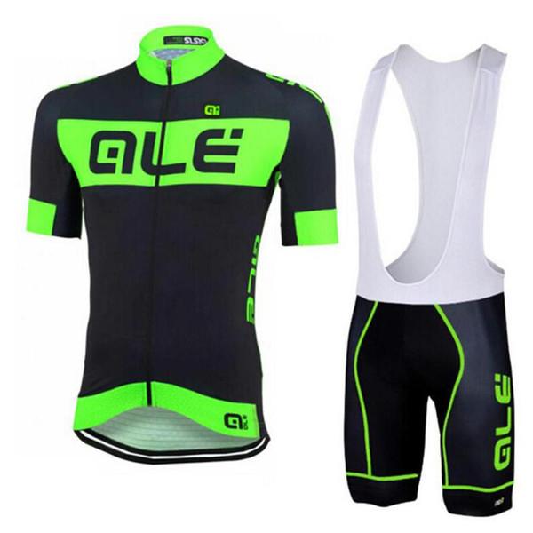 102342 équipe Ale Custom Made Cyclisme Manches Hommes respirant à manches courtes Cuissard Sports de plein air Jersey Ensembles S