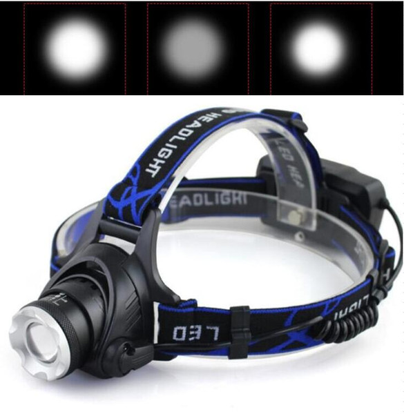Portable outdoor headlamp with battery charger 3 mode Cree XML-T6 LED hat flashlight lamps high power headlamps with batteries harger