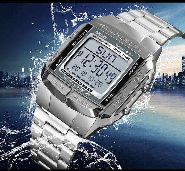 A159W Ultra-thin WATCH with brick edging B640W waterproof retro small square business casual A158W ladies electronic watch diamond F91 F91W