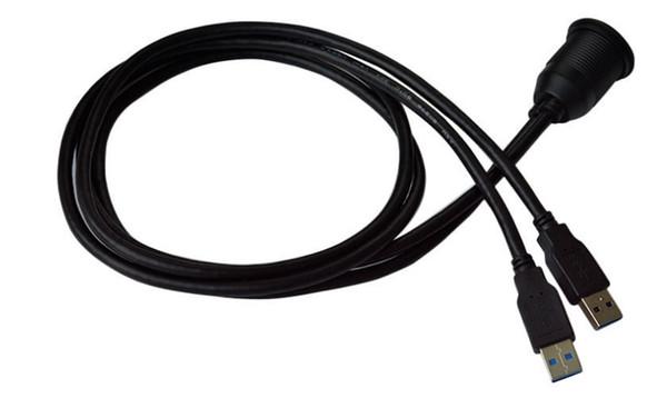 Doppel USB 3.0Male auf Female Flush Panel Mount Verlängerungskabel für Auto LKW Boot Motorrad Dashboard USB3.0 Verlängerung