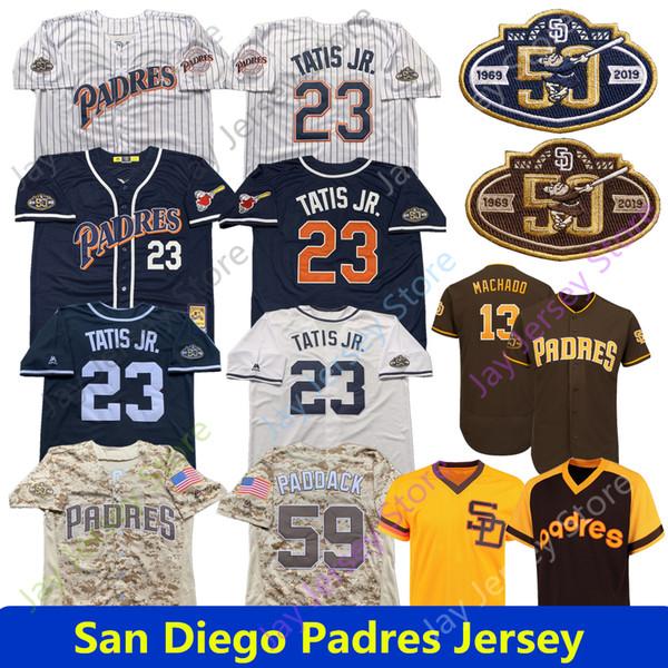 San Diego Custom Padres Jersey Fernando Tatis Jr. Nickname Manny Machado Chris Paddack Eric Lauer Eric Hosmer Hunter Renfroe EL NINO