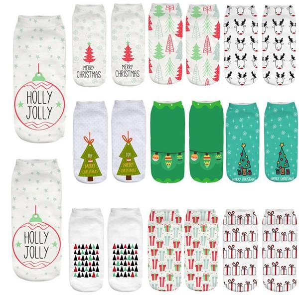 NUOVA L DONNA regalo di Natale Xmas Calzini Alla Caviglia Misura 4-7 Festa Novità