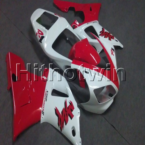Gifts+Screws red white motorcycle cover for Yamaha YZF-R1 98 99 YZFR1 1998 1999 ABS Plastic Fairing