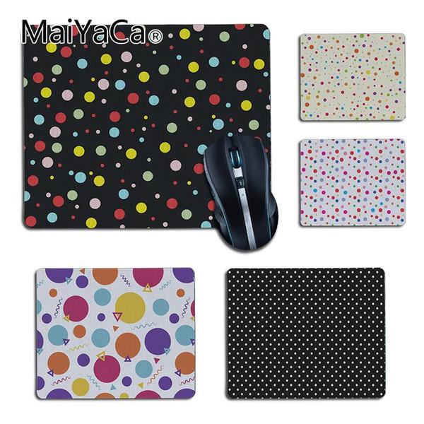 MaiYaCa My Favorite colorful Polka Dots Custom mouse pad Gaming mouse pad DIY Design gaming Rug For PC Laptop Notebook