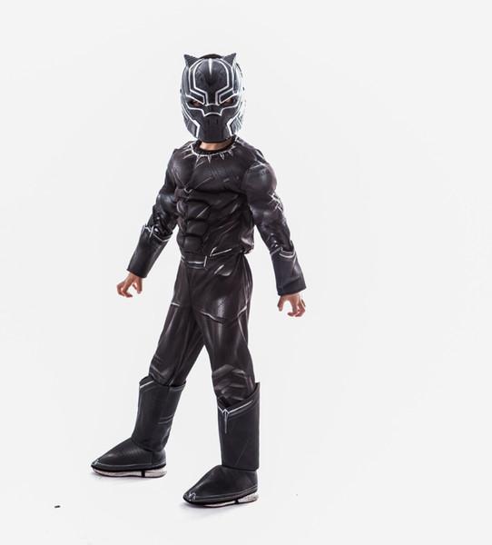 Nouvelle impression 3D film Marvel Panther siamois muscle vêtements Cosplay Halloween jouer costume COS vêtements