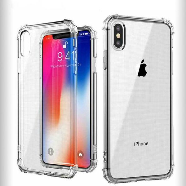 For samsung huawei oppo iPhone 6 6S 7 8 Plus Ultra-thin Transparent Anti-drop Phone Case For iPhone X XS XR XS Max Cases