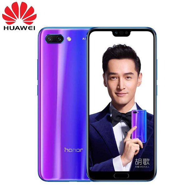 """Huawei Honor 10 Global Rom Smartphone 5.8"""" Screen NFC Mobile Phone Android 8.1 LTE 3D Curved Glass AI Processor 24MP Camera"""