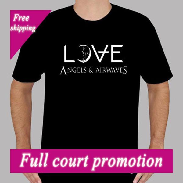 AVA Angels and Airwaves LOVE Logo Rock Band Herren Schwarzes T-Shirt Größe S bis 3XLKurzarm Lässige O-Neck T-Shirts
