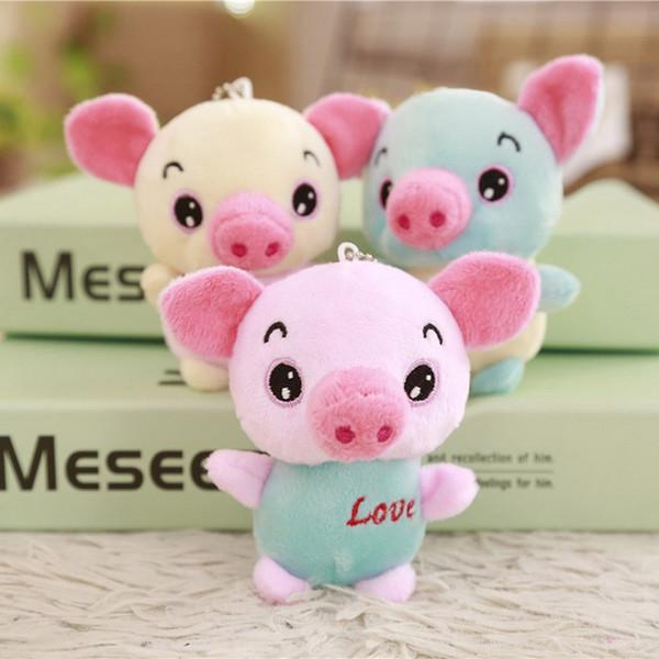 12cm Cute Pig Plush Toys Lovely Soft Stuffed Animals Mini Piggy Bag Pendant Plush Dolls Key Chain For Children Girls Gifts