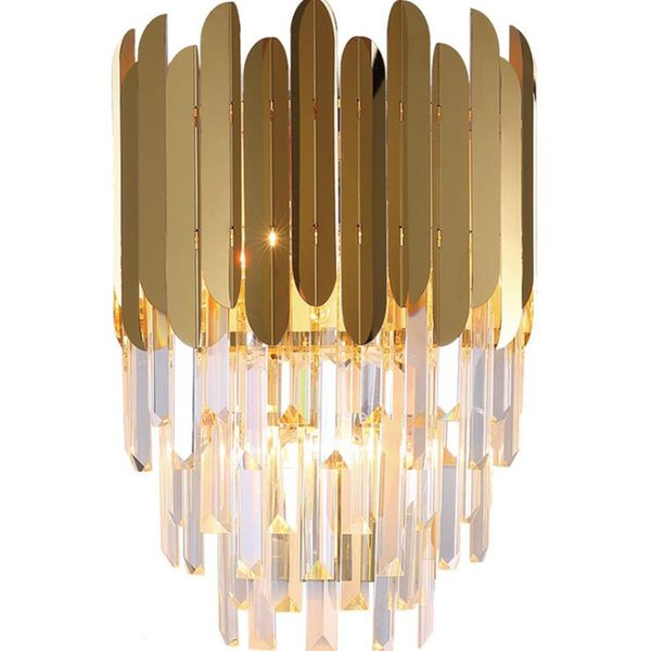 2019 Modern Wall Sconce Lamp Luxury Gold Wall Light Fixtures Bedside Living  Room Wall Lamps Living Room TV Background Aisle Lights From Flymall, ...