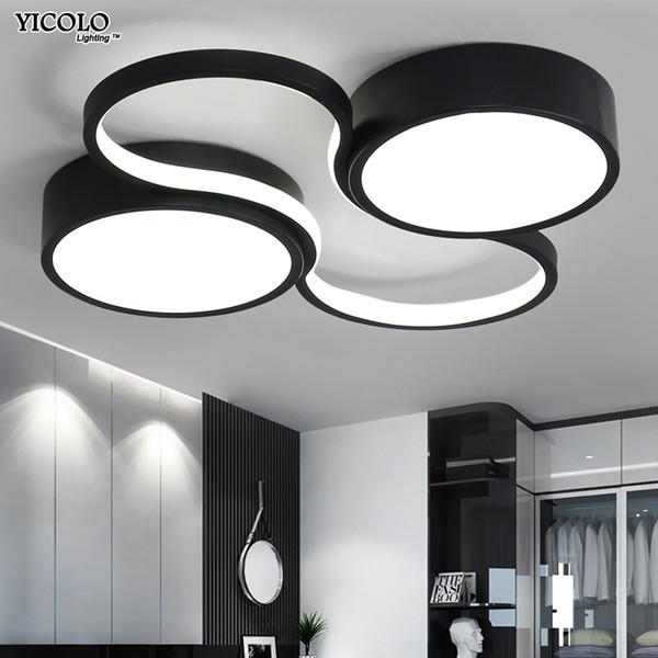 Großhandel LED Kronleuchter Licht Moderne Lampe Wohnzimmer Beleuchtung  Kunst Design Schlafzimmer Küche Oberflächenmontage Flush Panel  Fernbedienung ...