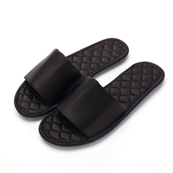 Fashion silk satin slippers women's summer indoor non-slip breathable women's floor sandals and slippers factory direct sales