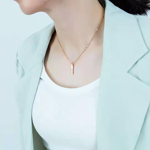 with love letters pendant necklace for women luxury designer bling diamond letter pendants stainless steel silver rose gold jewelry gift