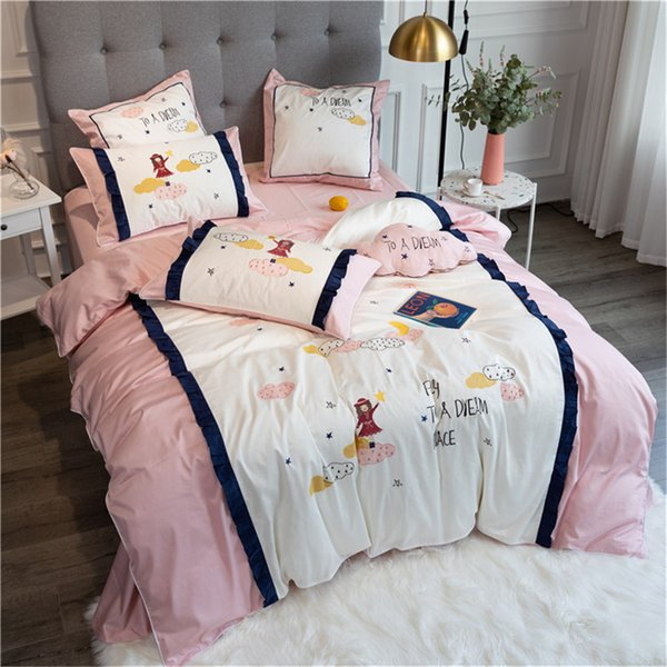 Modern Princess Style Bedding 80s Egyptian Long Staple 100% Cotton With  Embroidery Pure Cotton Full Cotton Quilt Set Of Girl Bedding Se Kids Sports  ...
