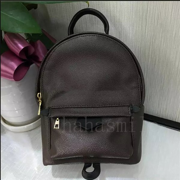 top popular Hight quality Women's Palm Springs Mini Backpack luxury bag leather m children backpacks women printing leather Mini backpack1564378414 2019