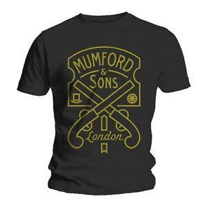 Oficial Mumford Harajukuns - Etiqueta de pistola - Camiseta de BlaWholesale de los hombres
