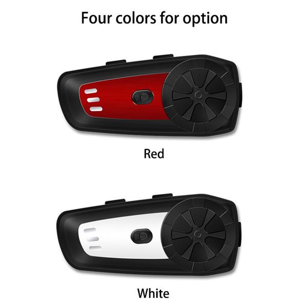 Motorcycle Wireless Helmet Intercom Headset Bluetooth Kit MP3 FM Voice Command Wired To 2 Way Radio Handsfree BT Interphone car