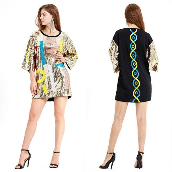 Boho Style Femmes Paillettes D'été Lâche Casual Plage Mini Robe Swing Une Pièce Combishorts Vêtements Pour Femmes Sun Dress Fashion cps1292