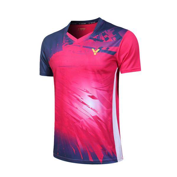 여성 로즈 레드 셔츠