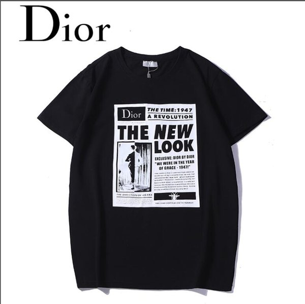 El último verano de 2019, la moda europea de París, los boros, los hombres, camiseta casual de algodón, de grado superior, con cuello redondo, manga corta, blanco y negro gratis.