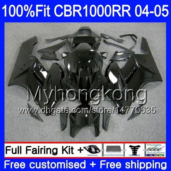 Injection Body +Tank For HONDA CBR 1000RR CBR1000 RR 04-05 275HM.1 CBR1000RR Glossy black full 04 05 CBR 1000 RR 2004 2005 OEM Fairings kit