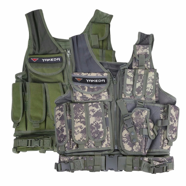 Outdoor Tactical Vest Men Tactical Vest Camouflage Body Armor Molle Outdoor Equipment Jungle 2Color Libera la nave