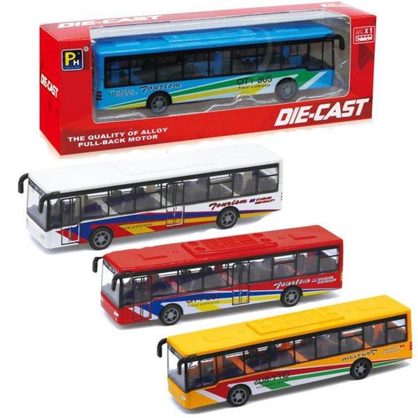 En plastique Abs Modèle Jouets Inverser bus Diecast Jouet Véhicules Véhicules Pull Back bus Haute Simulation Autobus Scolaire Enfants jouets cadeau De Noël