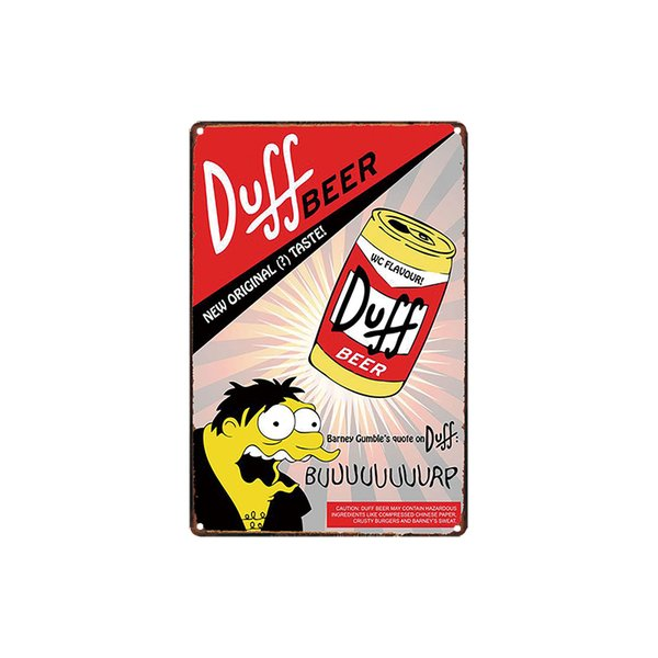 classic vintage DUFF BEER NEW ORIGINAL TASTE SUPERMAN STRONG tin sign Coffee Shop Bar Wall decor Bar Metal Paintings