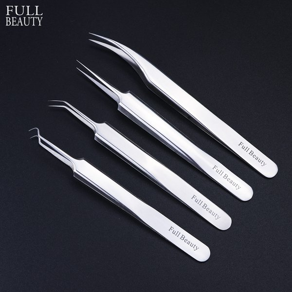 top popular 1pc Stainless Steel Blackhead Tweezers Eyelash Extension Curved Acne Clip Removal Eyebrow Tweezer Face Care Tools CHFBNC01-04 2021
