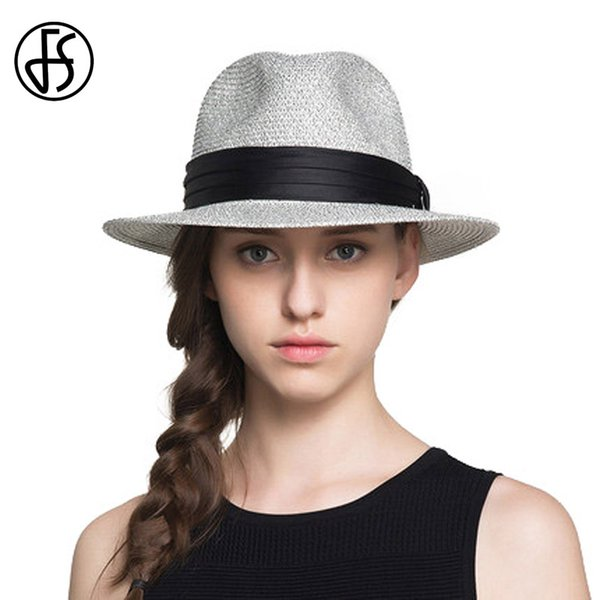 wholesale Straw Hats For Women Or Men Summer Vintage Wide Brim Jazz Panama Hat Chapeu Feminino Sun Visor Beach Hat