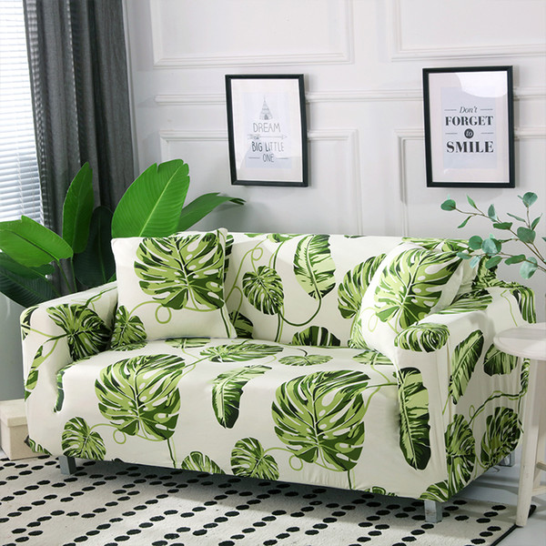 Tropical Style Universal Stretch Sofa Covers Living Room Sectional Couch  Slipcover Elastic Sofa Cover 1/2/3/4 Seat Summer Cheap Dining Room Chair ...