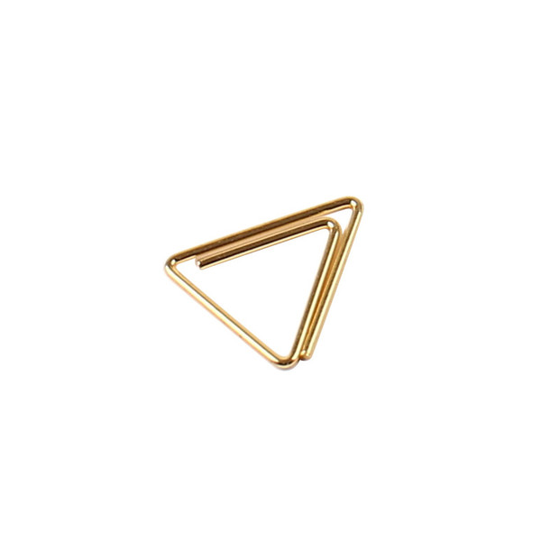 Mini metal paper clip  gold oval plum blo  om triangle paper clip  bookmark memo planner clip   chool office  tationery  upplie