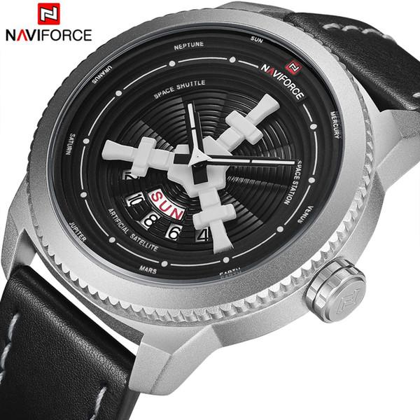 NAVIFORCE Watches Men Sports Waterproof Date Analog Quartz Men's Watches Chronograph Business For Men Relogio Masculino