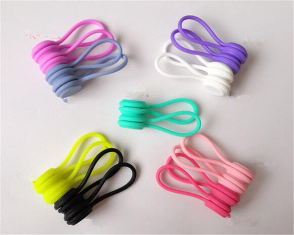 New Home Multifunction Magnet Earphone Cord Winder Cable Clips For Earphone Sujeta Cables Con Base Adhesiva Cable Clamp Wire Clip