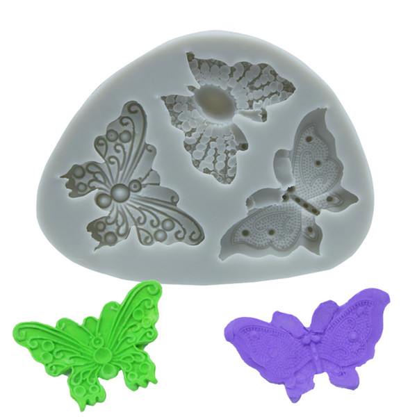 Schmetterling Form Schokoladenformen Silikon Keks Kuchenform Utility Küche Backwerkzeug Kinder Lehmform Spielzeug 50 Stücke DHL