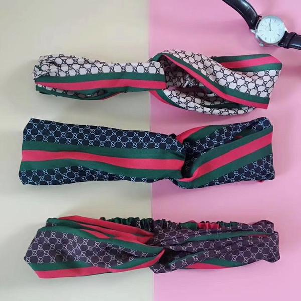 2019 luxus designer g stil kreuz stirnband frauen mädchen elastische haarbänder retro turban headwraps geschenke blumen hummingbird orchidee