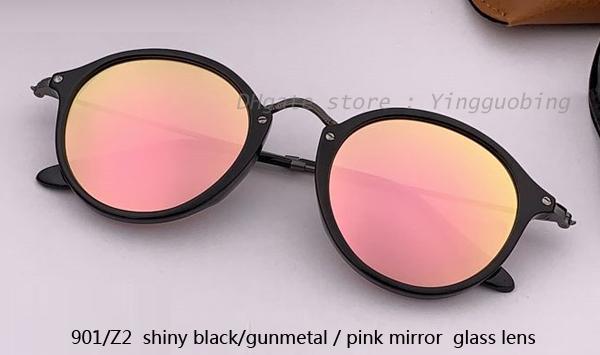 901/Z2 shiny black gunmetal/pink mirror