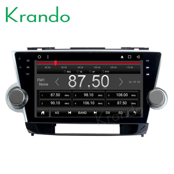 "Krando Android 8.1 10.1"" IPS Full touch Big Screen car dvd multimedia system for TOYOTA HIGHLANDER 2008-2014 radio gps BT wifi"