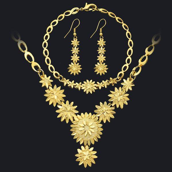 Ethiopian/Arabic/Oman Jewelry Sets Gold Color African/Eritrea/ Wedding Gifts Dubai Jewelry sets Jewelry Women Wedding