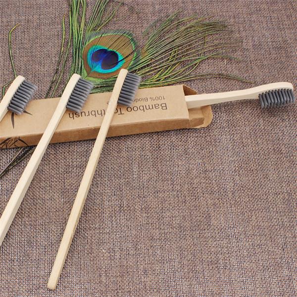 Sıcak satış Bambu noktası ipek diş fırçası T9I00224 taşlama çevre koruma günlük diş fırçası bambu karbon diş fırçası