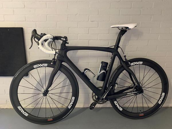 2019 más nuevo color blanco logo carretera ruedas de carbono 50 mm 23 mm de ancho 700C v rompe ruedas de carbono ud superficie de basalto ruedas de ciclismo inteligentes en stock
