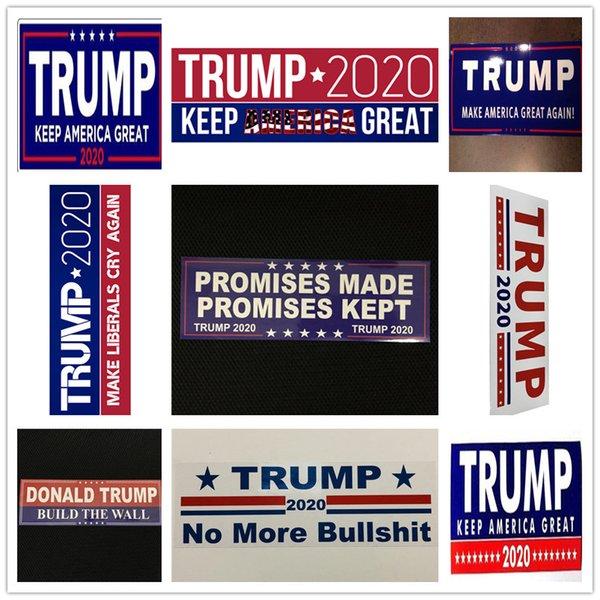 best selling 10pcs Lot Donald Trump Car Sticker President 2020 Bumper Make America Great Again Pvc Car Stickers Accessory Car Styling DecalB5601